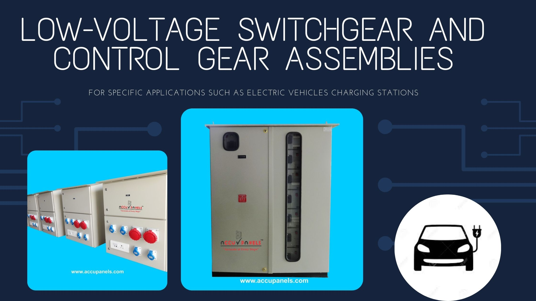 Low-voltage switchgear and control gear assemblies for specific applications such as electric vehicles charging stations