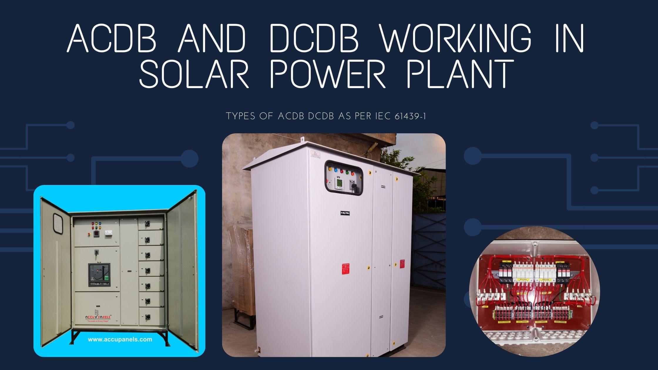 ACDB and DCDB Working in Solar Power Plant: