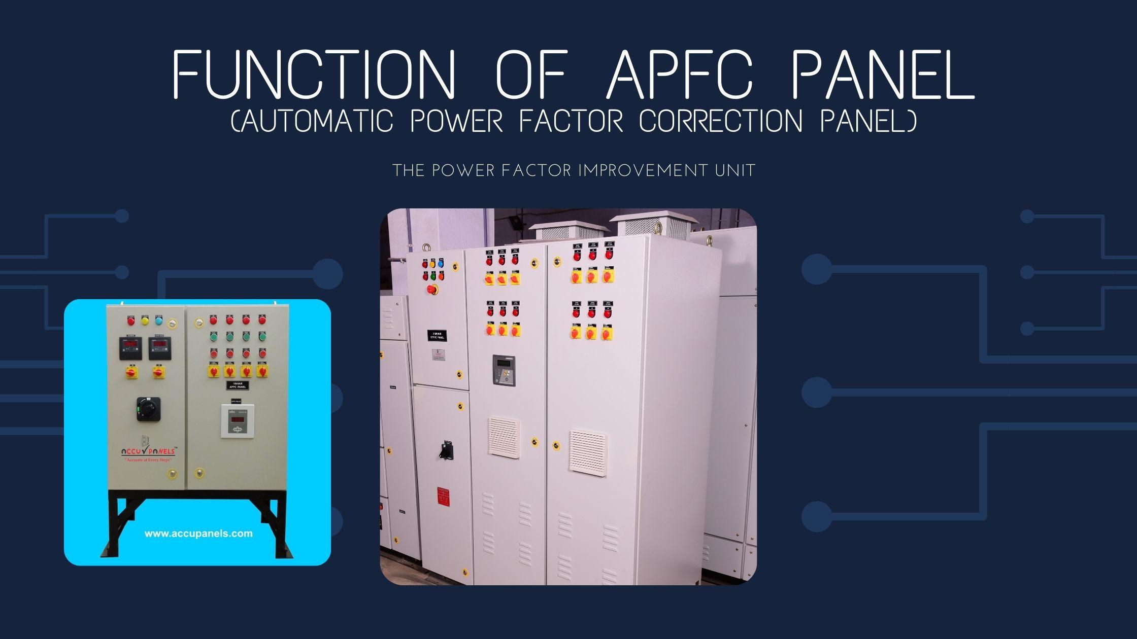 Function Of APFC Panel